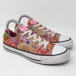 Converse All Star Pink Floral Shoes